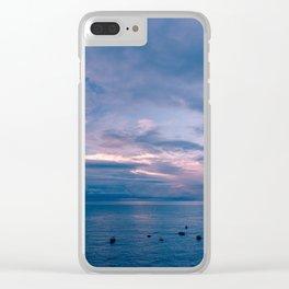Positano Sunrise XV Clear iPhone Case