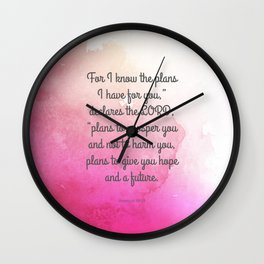 Jeremiah 29:11, Encouraging Bible Verse Wall Clock