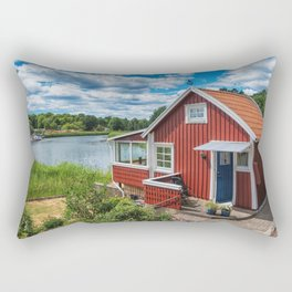 Swedish national summer house Rectangular Pillow
