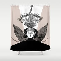 blossom Shower Curtains featuring Blossom by Orit Kalev