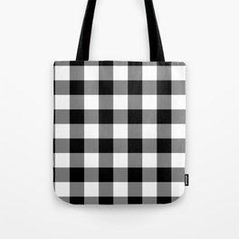 Gingham (Black/White) Tote Bag