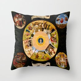 The Seven Deadly Sins and The Four Last Things Throw Pillow
