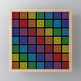 Rainbow Squared Black Framed Mini Art Print