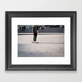 Street skater Framed Art Print