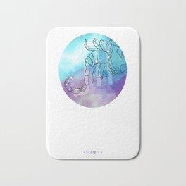 Scorpio zodiac sign constellation Bath Mat