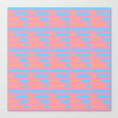 Pink Blue Peach Houndstooth /// www.pencilmeinstationery.com Canvas Print