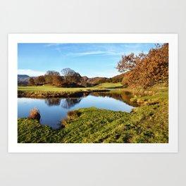 River Brathay Reflections Art Print