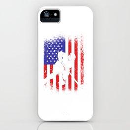 Hockey USA America flag ice hockey iPhone Case