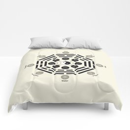 Bagua Poster With Eight Trigrams Comforters
