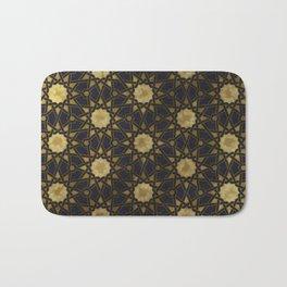 Islamic decorative pattern with golden artistic texture Bath Mat