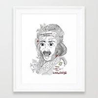 einstein Framed Art Prints featuring Einstein by Ina Spasova puzzle