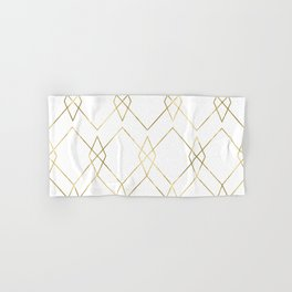 Gold Geometric Hand & Bath Towel