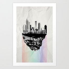 þar á bak við hæðirnar Art Print