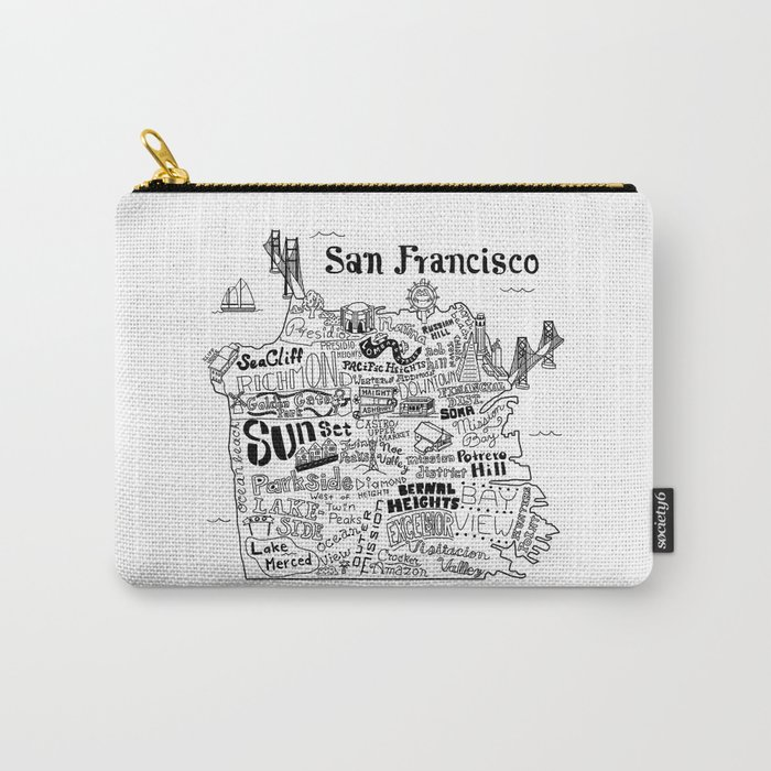 San Francisco Map Illustration Carry-All Pouch
