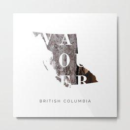 Vancouver British Columbia Metal Print