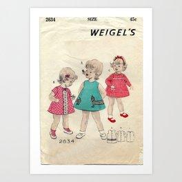 Vintage Little Girls Dream Art Print