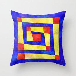Semirenium - simple coloured cube world Throw Pillow