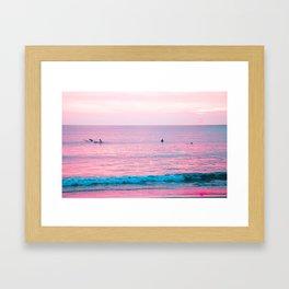 Kuta Beach, Bali, Indonesia at Sunset Framed Art Print