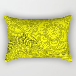 Yellow uzumaki Rectangular Pillow