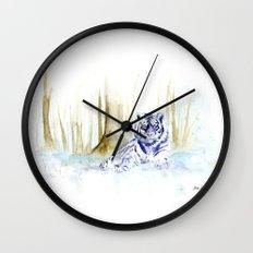 Frost Tiger Wall Clock