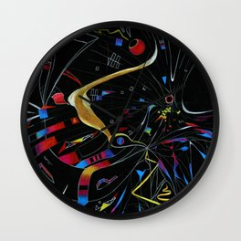 Caught in the Web Wall Clock