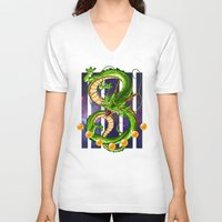 dragon ball z V-neck T-shirts featuring Dragon by TxzDesign