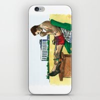 hunter s thompson iPhone & iPod Skins featuring Hunter S. Thompson, The Rum Diary by Abominable Ink by Fazooli