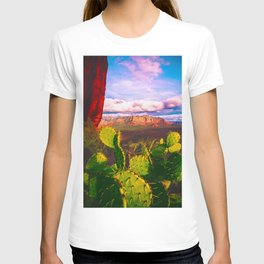 Cacti with a View (Cathedral Rock) T-shirt