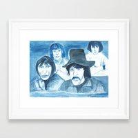 floyd Framed Art Prints featuring Pink Floyd by Betty Razalli