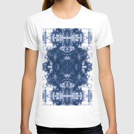 Shibori Tie Dye 2 Indigo Blue T-shirt