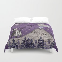 When the Little Prince came to Iceland Duvet Cover