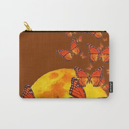 MONARCH BUTTERFLIES GOLDEN MOON BROWN FANTASY Carry-All Pouch