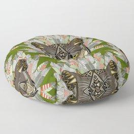 native mountain lion green Floor Pillow
