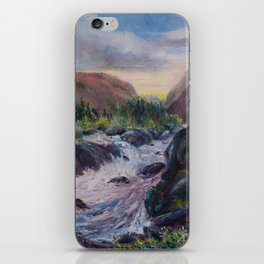 A Creek Between Mountains iPhone Skin