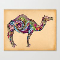 camel Canvas Prints featuring Camel by Green Girl Canvas
