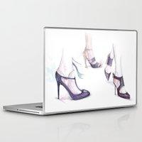 heels Laptop & iPad Skins featuring Runaway heels by pinodesk
