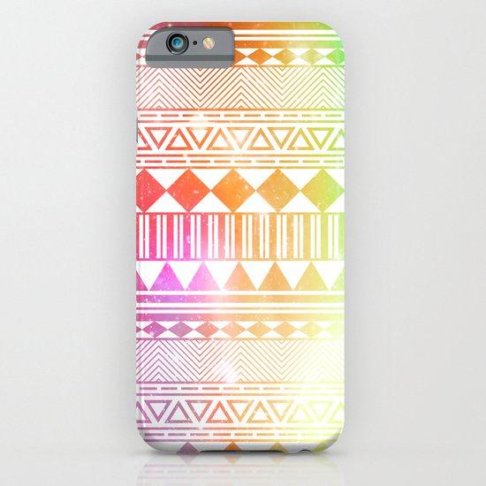 rainbow galaxy navajo tribal pattern iPhone & iPod Case