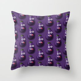 Stressed Out Eggplant Throw Pillow