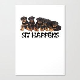 Sit Happens Canvas Print