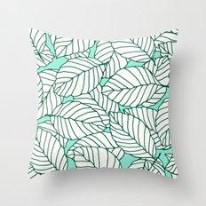 Sweet leafs: Mint Throw Pillow