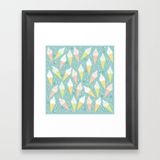 Ice Cream Cones Framed Art Print