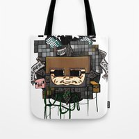 book cover Tote Bags featuring CRAFT - Book Cover by VerticalSynapse