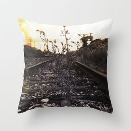 Rebirth Between the Rails Throw Pillow