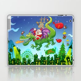 Santa changed his reindeer for a dragon Laptop & iPad Skin