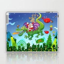 Santa changed his reindeer for a dragon Laptop & iPad Skin