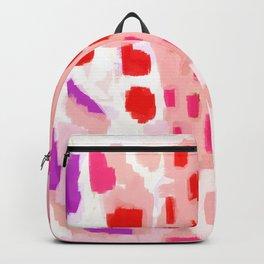 Wesli - minimalist pink purple white trendy millennial pink home decor canvas art Backpack