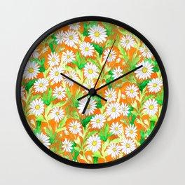 Sketchbook Daisies Wall Clock