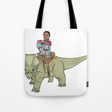 A Boy and his Dinosaur Tote Bag