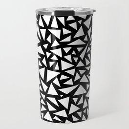 White triangles on Black background Travel Mug