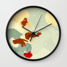 Mountain Poppies Wall Clock